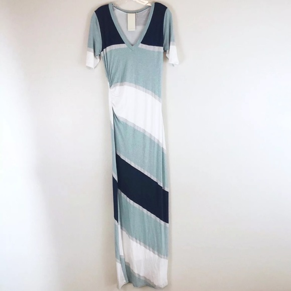 2c08f4017d0214 Heather Dresses | Striped Maxi Dress Ruched Waist Bodycon | Poshmark